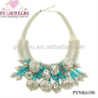 Fashion Vogue Design Chunky Necklace,Metal Collar Necklace - PYNK6190