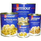 choice and whole canned mushroom in tin
