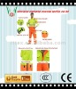 long sleeves high visibility fluorescent fabric work jacket