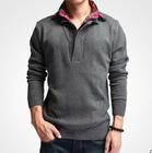 latest sweater designs for men knitted sweater thick man double neck cashmere sweater nice sweaters for men BZZO9