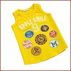 Baby Summer Plain Casual Knit 100% Cotton Vest with Print