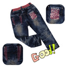 2012 Lastest Design Elastic Waistband Denim Kids Jeans(GKC1BY233)