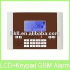 Latest Wired&Wireless GSM LCD Burglar Alarm System with 106 Zones
