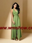 New Style Halter Green Western Bridesmaid Dresses