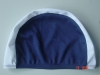 Adult swimming cap in navy and white color