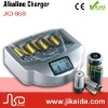 Portable emergency rechargeable alkaline battery charger