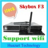 Original YouTube Skybox F3 HD digital satellite receiver DVB-S2 with PVR support USB Wifi