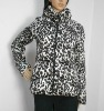 Ladies 100% Poly Fill Leopard Print Coat
