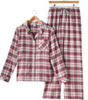 Ladies Flannel Pajama Set