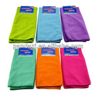 50 x 70cm microfiber cleaning cloths, available in various colors