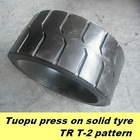 Topower press-on solid tyre ,solid tire 10x1/2