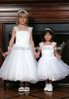New arrival spaghetti strap organza ball gown flower girl dress