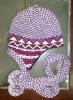 helmet hat(knitted hat)
