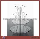 Bespoke 4-Tier Clear Round Floor Wedding Favor Acrylic Cupcake Display Holder