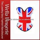 British flag Print Chain Link Straps Corset