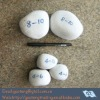 man-made grinding pebbles for ball mill (flint pebbles,SiO2>99.31%,Fe2O3<0.018%,hardness>8)