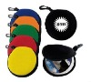circle neoprene CD case with clip