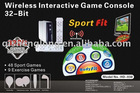 HD-038 32 Bits FAMILY BODY FIT TRAINER GAMESET, BEST SPORTS GAME, 68 GAMES, WITH DANCE MAT & SPORTS CONTROLLERS