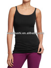 Ladies Lace-Trim Jersey Sleeveless Knit Tank Top