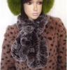 lady rex rabbit knitted fur scarf