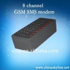 8 channel gsm modem for sending and receiving message