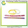 New designs silicone wrist band/ bracelets with pen