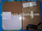 white board and cork board