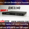 4 CVBS,SD H.264 Encoder for digital tv headend equipment