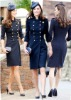 012 Autumn/Winter princess Celebrity kate Middleton Fashion double breasted full 3/4 sleeve blue 100% wool coat kt015