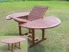 (W-T-8210) eucalyptus wood extendable table