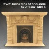 indoor freestanding fireplace mantel