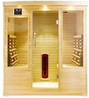 Full Spectrum Infrared Sauna with red glass heater