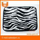 Black-and-white Striped Neoprene Laptop Case
