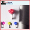 Rose ear phone jack dust cap plug