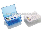 Promotional plastic travel sewing kit bag with pill box