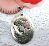 Hot Sell Mother of God design shell Medal Pendant