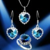 austra crystal jewelery sets