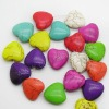 Fashion howlite multi-color color heart beads for jewelry bracelets making