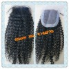 Kinky curl Chinese virgin hair top closure