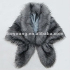 long fox fur vest