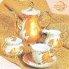 golden full decal porcelain tea pot