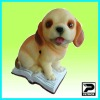 Polyresin Dog Figurine with Motion Sensor for Home and Garden Security