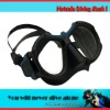 Commercial diving mask,anodize black aluminum frame with rubber paint