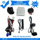 The Latest and top Canbus GSM car alarm system,special car alarm for toyota series,Overspeed alarm,working with original remote