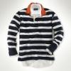 european size mens striped polo T shirt