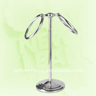 iron with chrome plated tabletop two rings towel holder