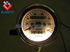 Universal Motorcycle Dual Odometer Speedometer Speedo Meter Gauge Test Speed Miles Compact With Internal Night light NEW
