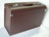 leather pilot trolley case with handle and code lock