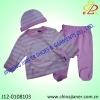 Winter100%cotton 3pcs set baby clothes