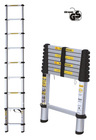 aluminium retract telescopic household step folding ladder stairs